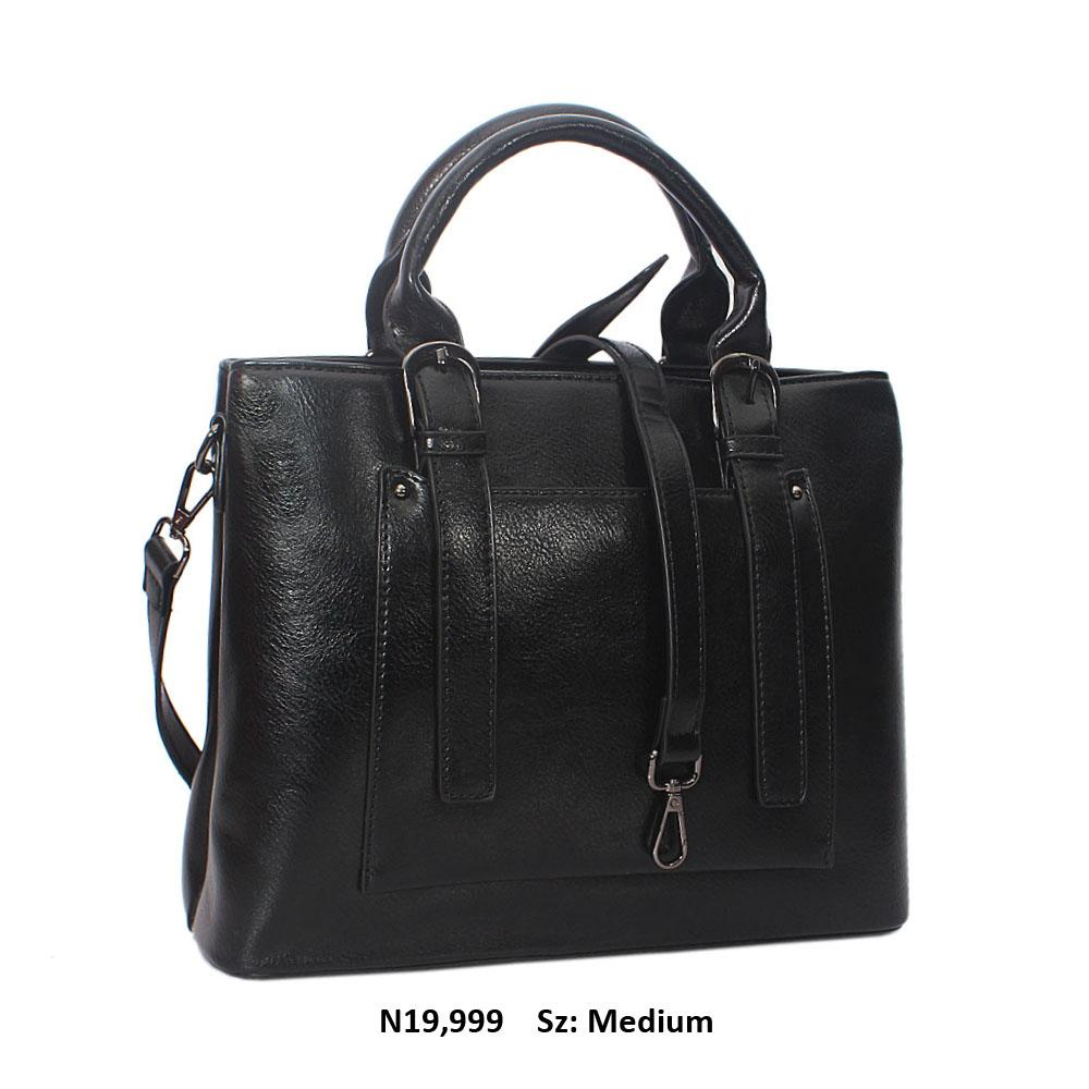 Black Scarlett Leather Tote Handbag