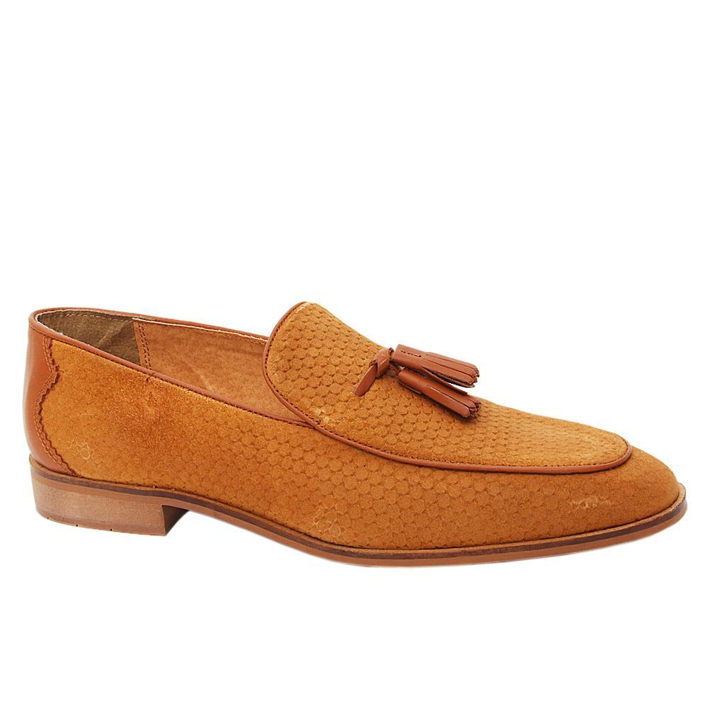 K. Geiger Brown McHenry Leather Tassel Loafers