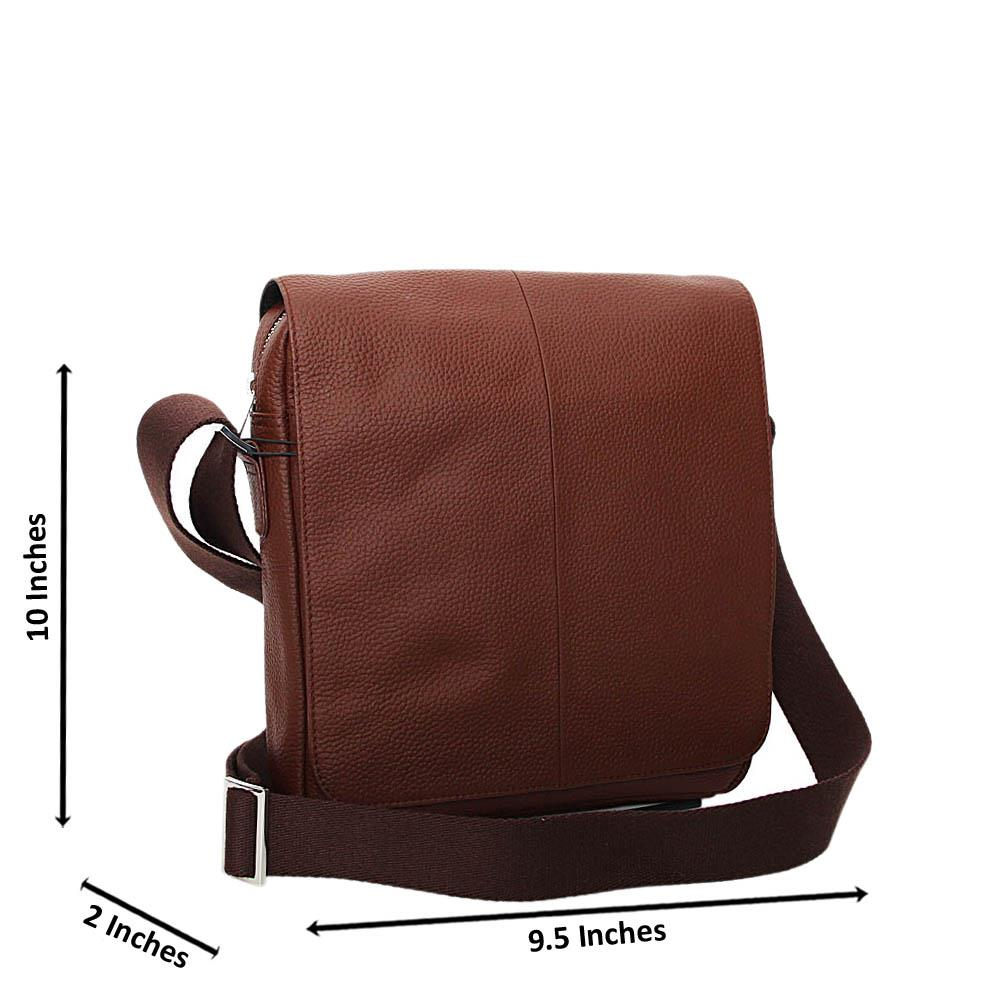 Brown Arthur Pure Leather Side Bag
