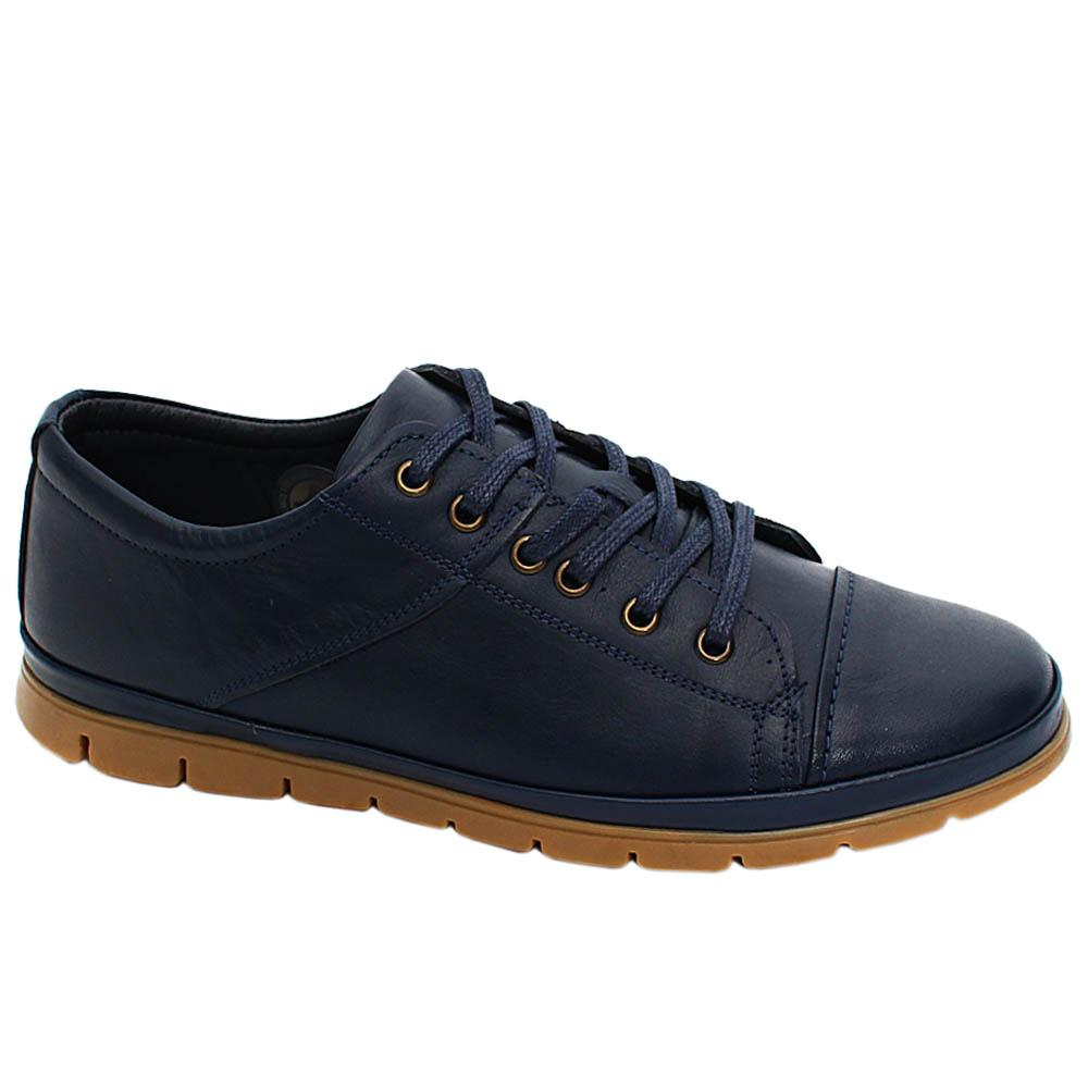 Navy Bridger Leather Men Sneakers