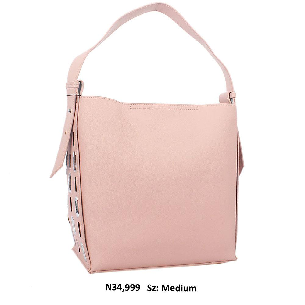 Pink Paige Leather Shoulder Handbag