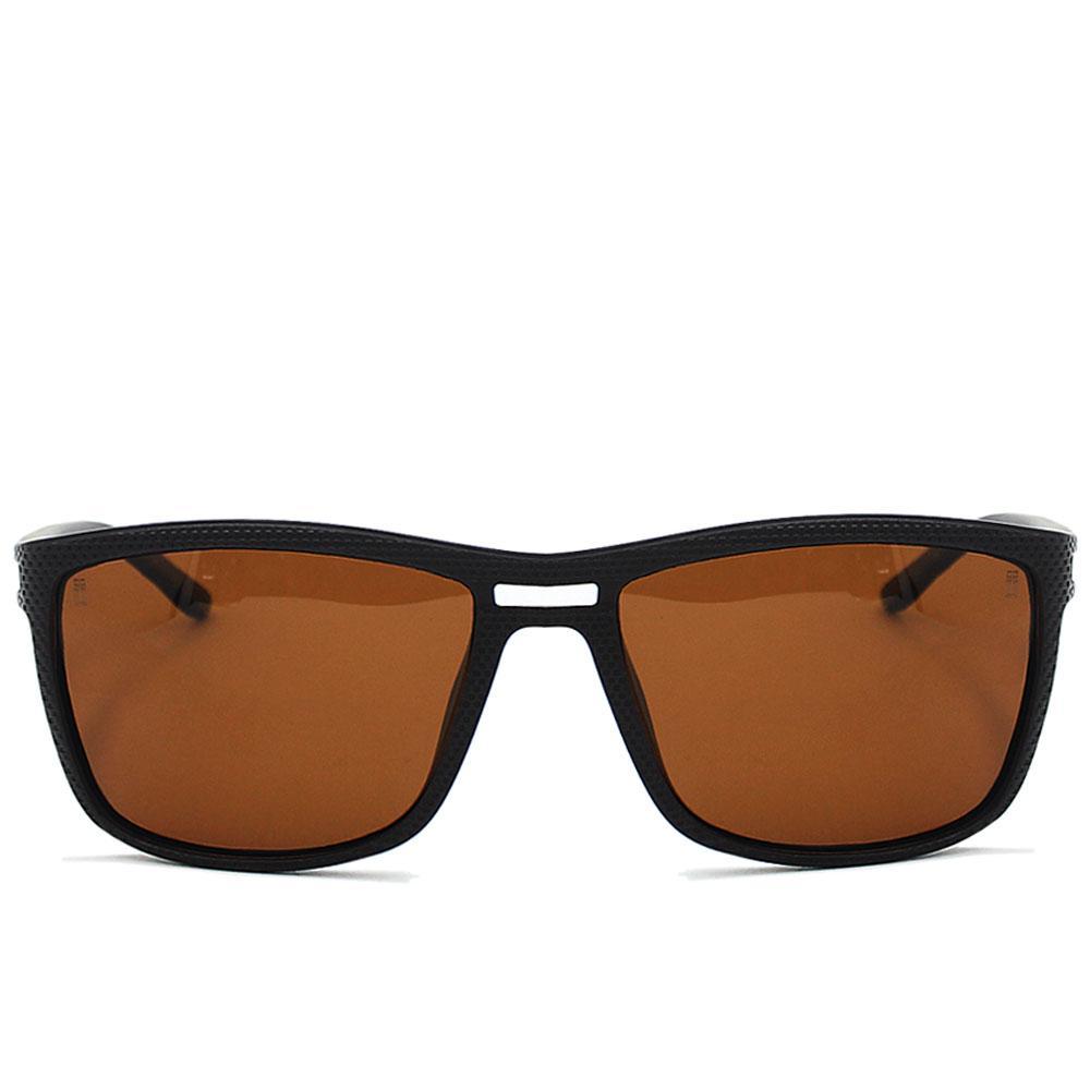 Coffee Brown Straight Face Wayfarer Sunglasses