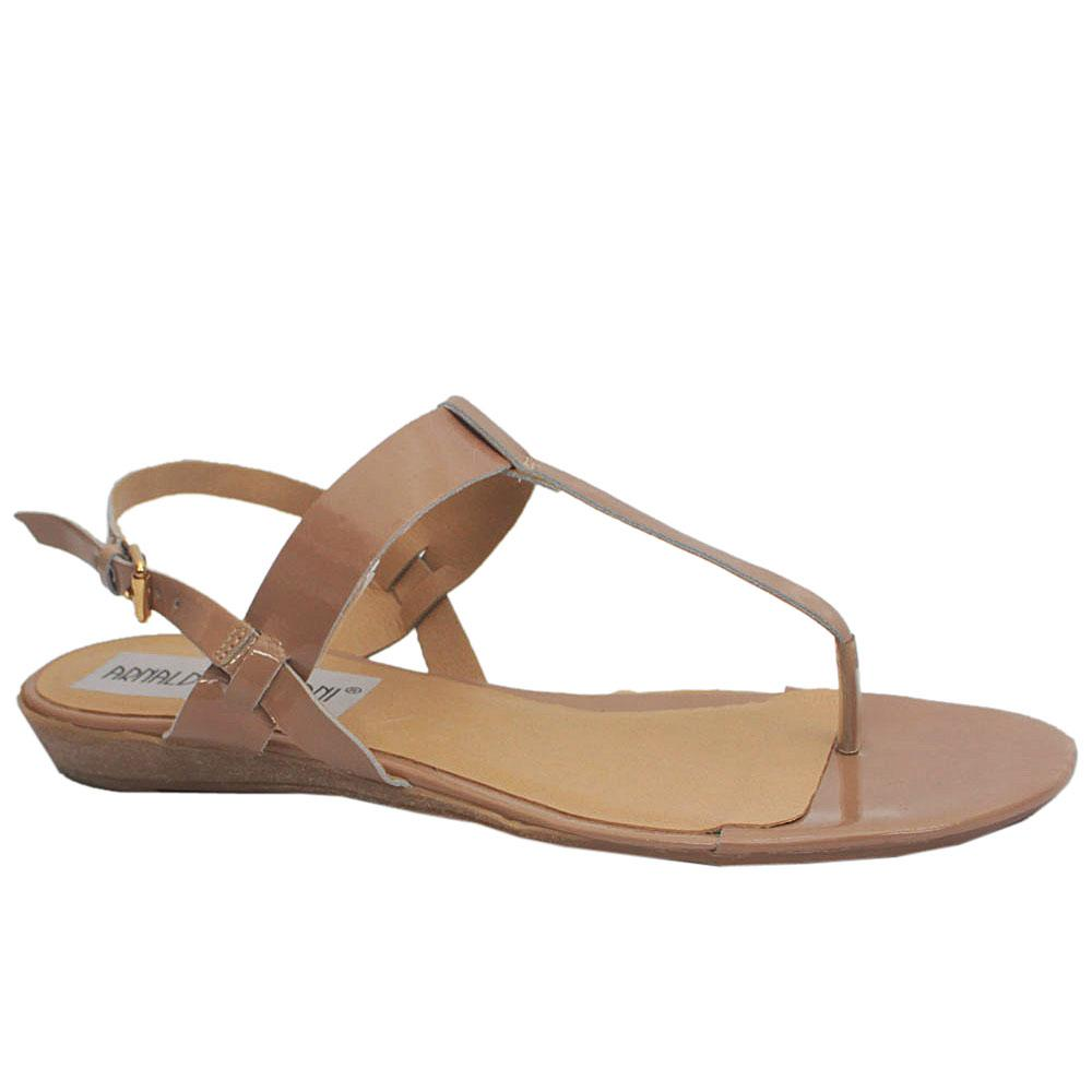 Sz 39 Arnaldo Toscani Beige Leather Sandals