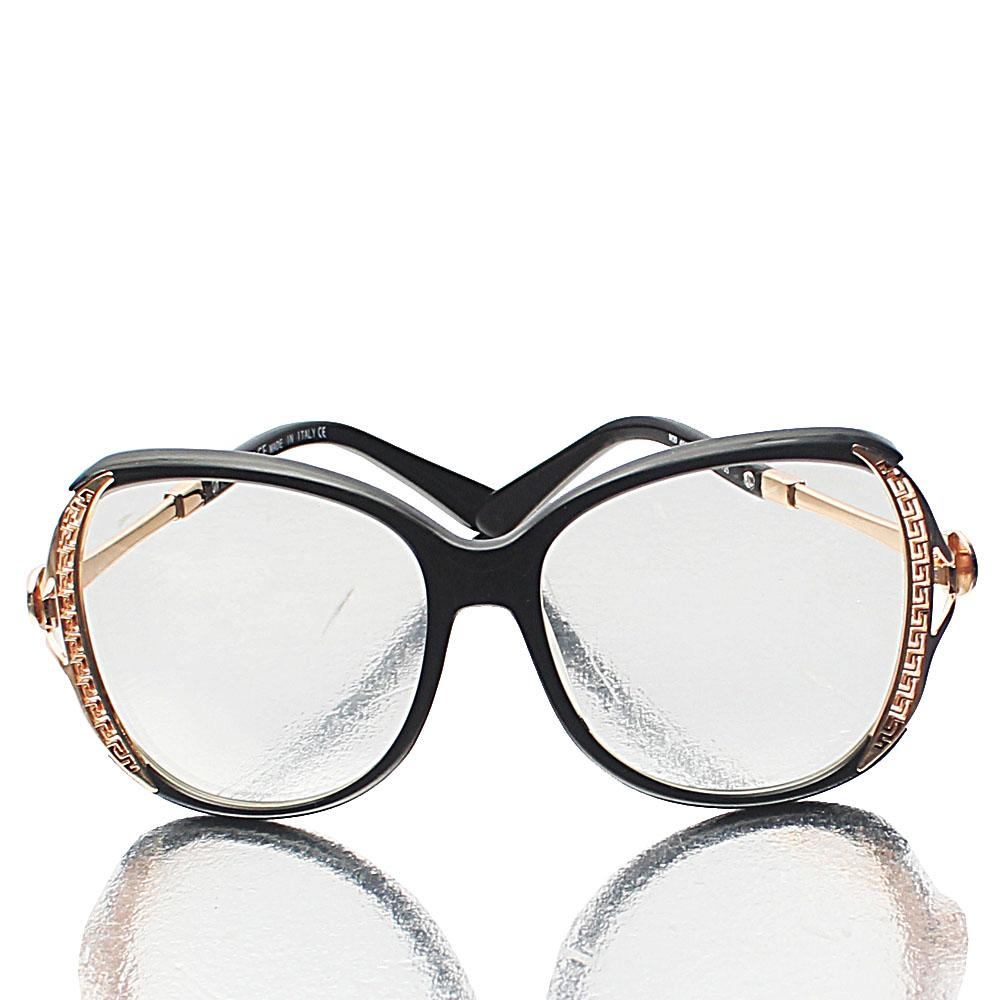 Black Butterfly Transparent Lens Glasses