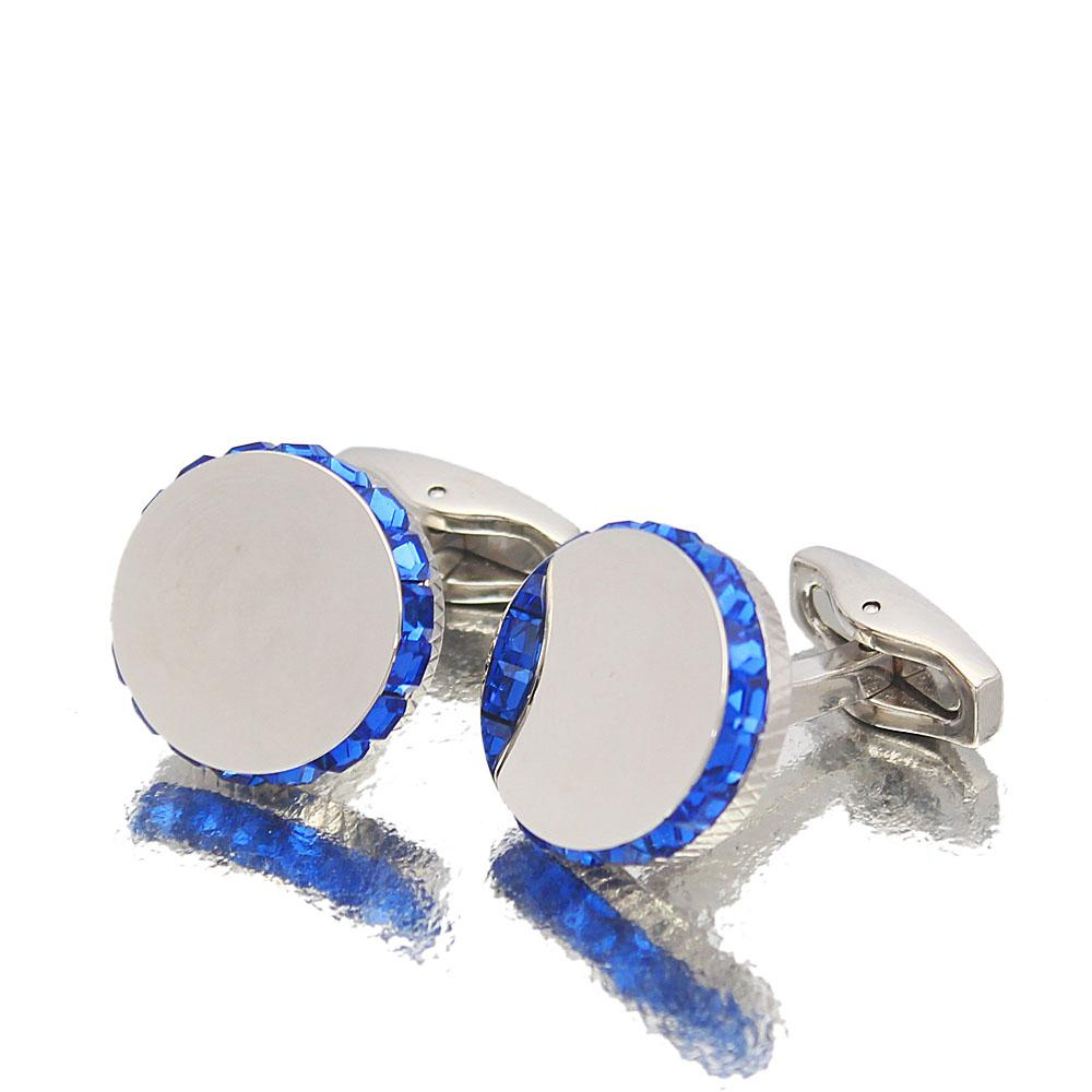 Staffordshire Silver Blue Ice Stainless Steel Cufflinks