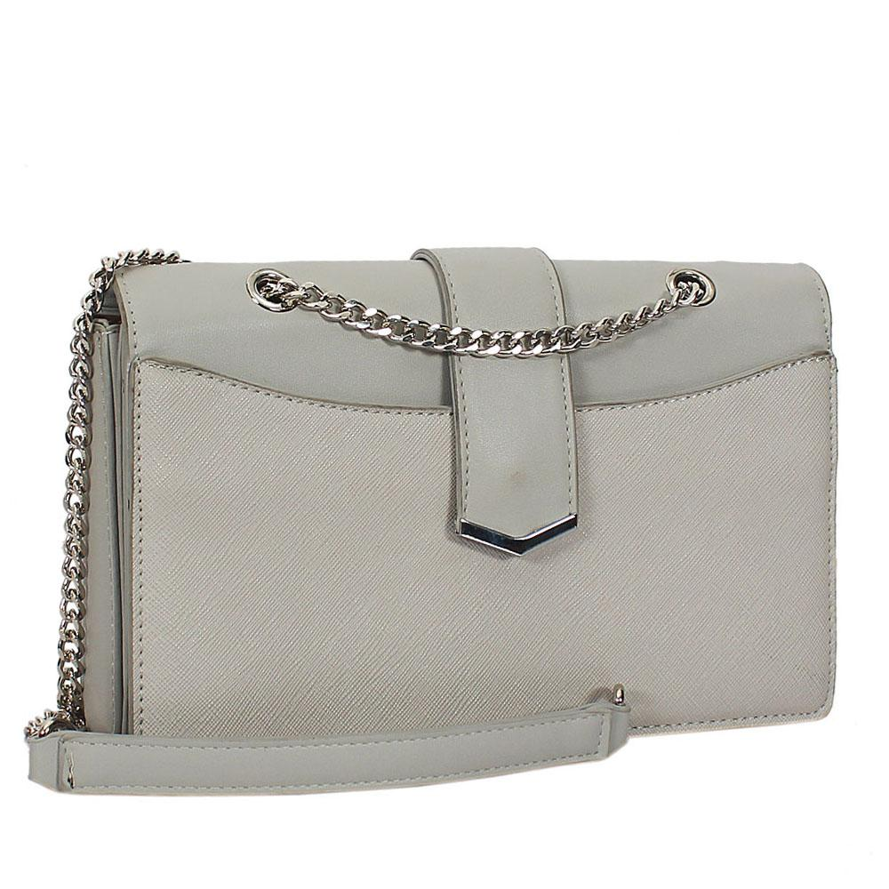 Pedro Grey Leather Small Crossbody Bag