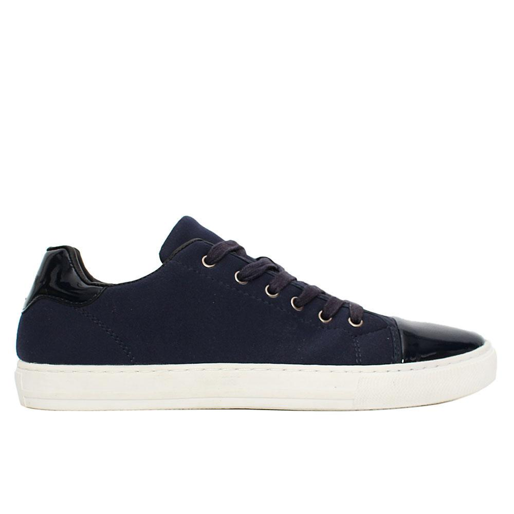 Navy Wyatt Suede Leather Sneakers