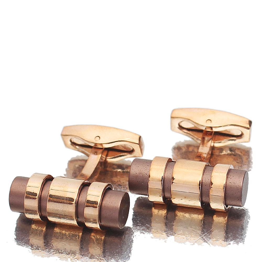 Iron Rose Gold Stainless Steel Cufflinks