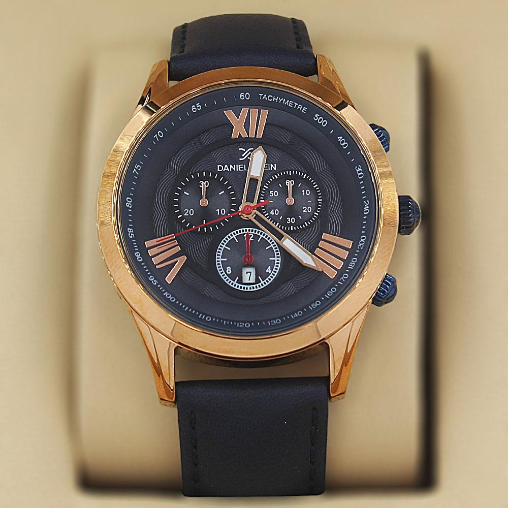 Daniel Klein Thiago Navy Leather Divers Series Watch