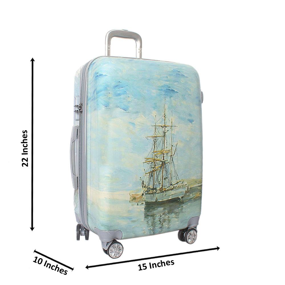 Marina 24 inch Hardshell 4 Wheels Spinners Medium Suitcase