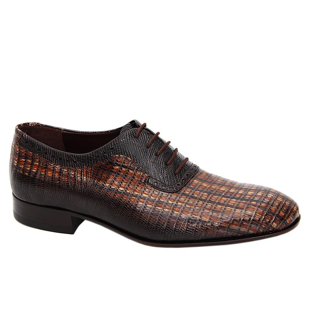 Coffee Mix Fernando Italian Leather Oxford Shoe
