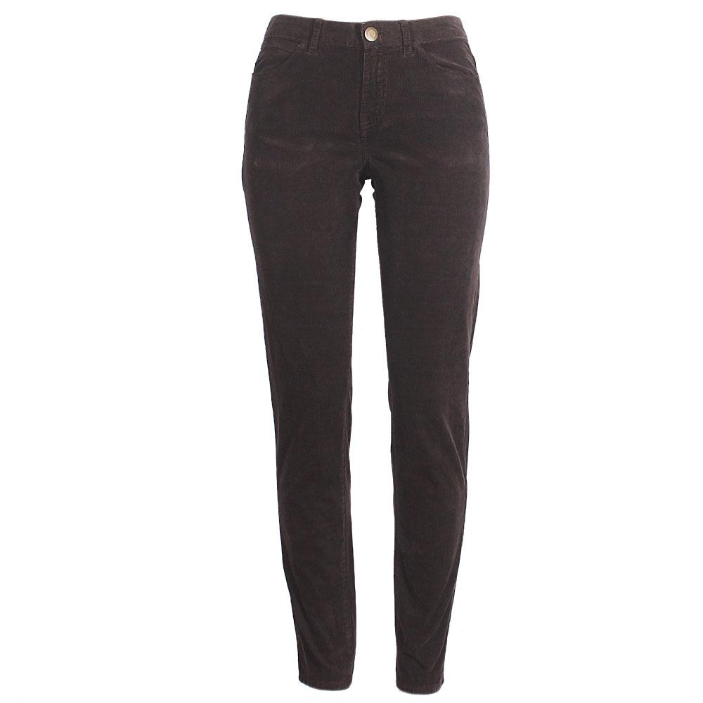 M&S Brown Corduroy Ladies Skinny Trousers Uk 10,L39