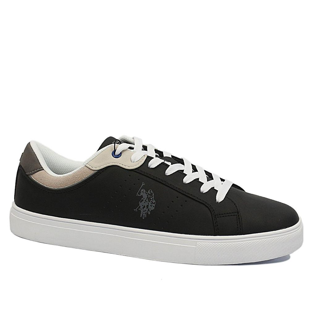 USSPA Black Curty Leather Breathable Sneakers