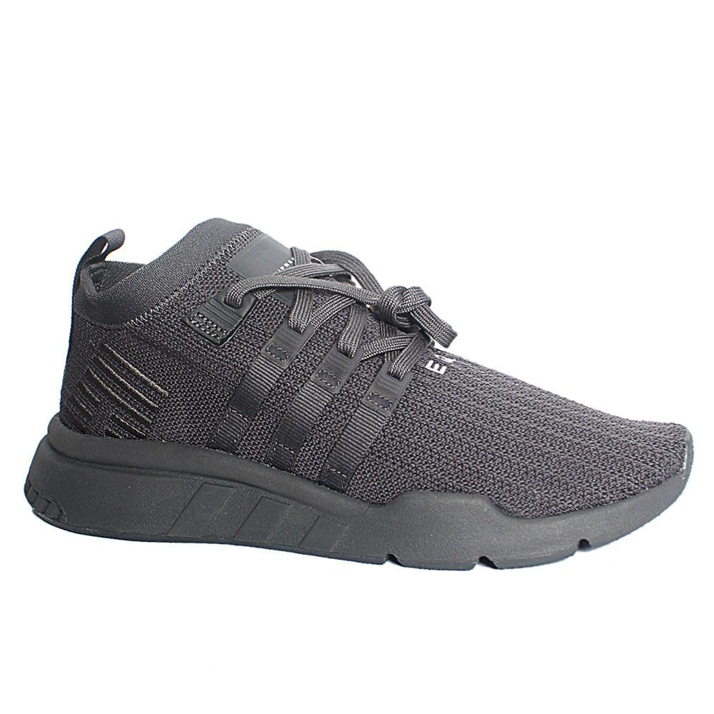 Gray EQT Support Mid Fabric Breathable Sneakers