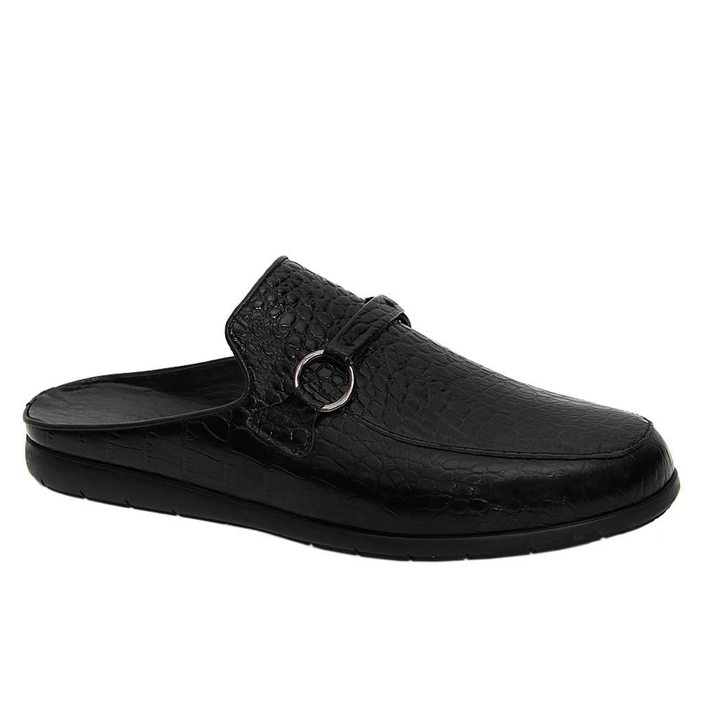 Black Gonzalo Italian Leather Half Shoe