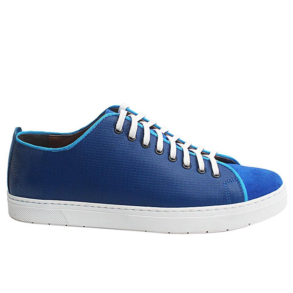 Royal Blue Edgard Suede Leather Slipon Shoe