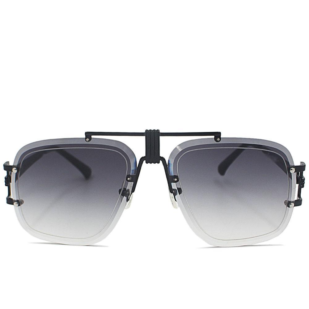 Black Barkley Rimless Sunglasses