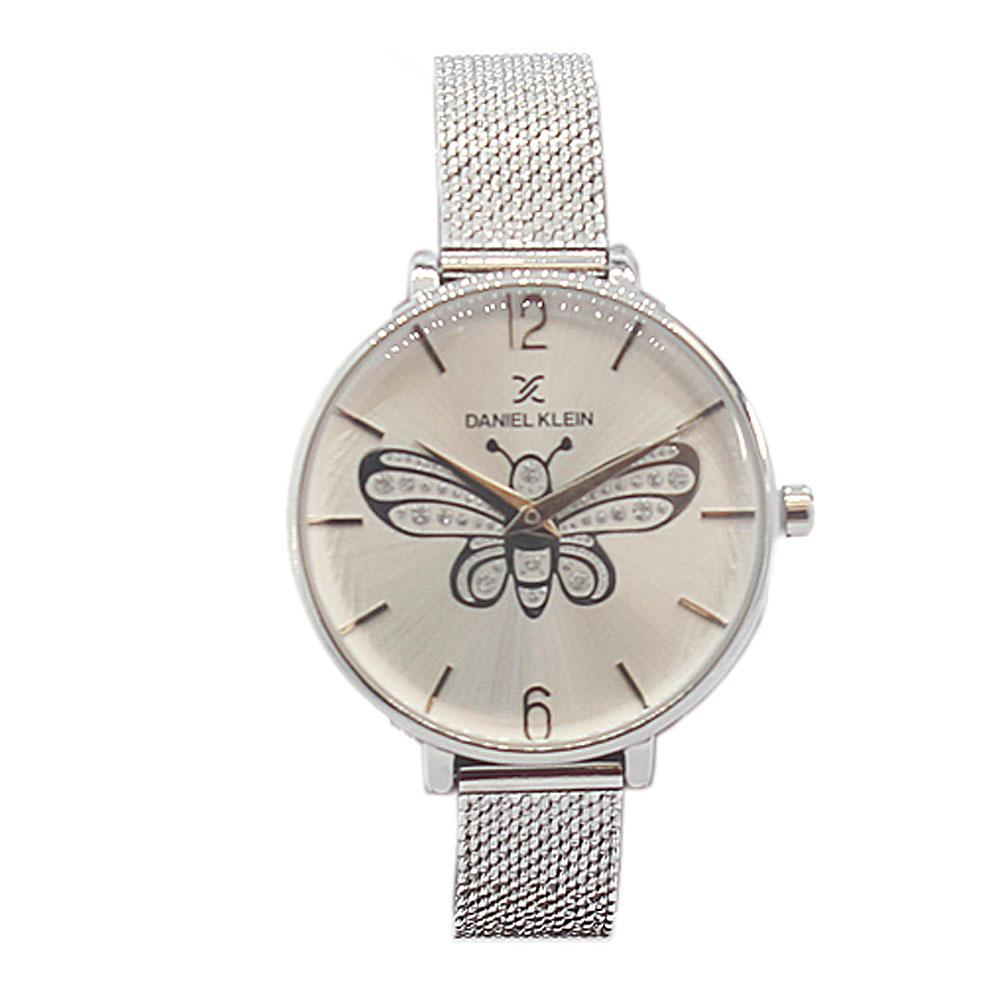 Daniel Klein Butterfly Pure Silver Stainless Mesh Ladies Watch