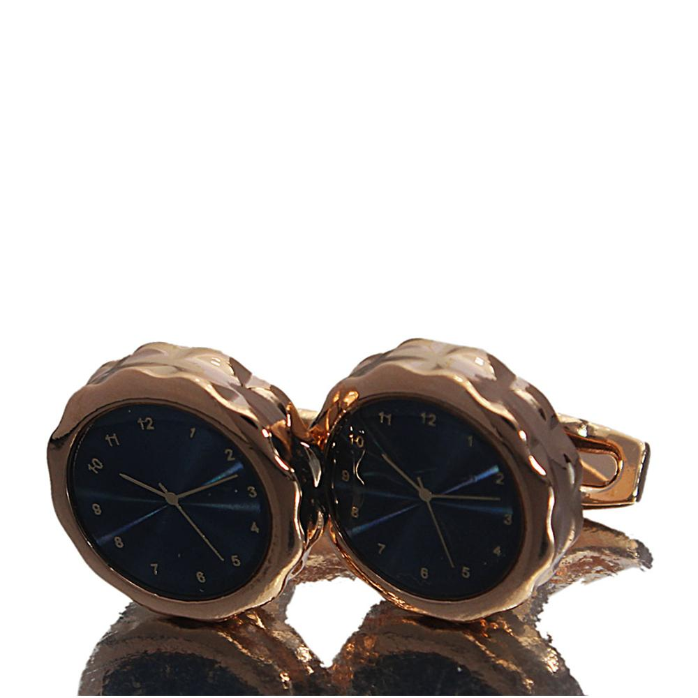 Rose Gold Classic Time piece Stainless Steel Cufflinks