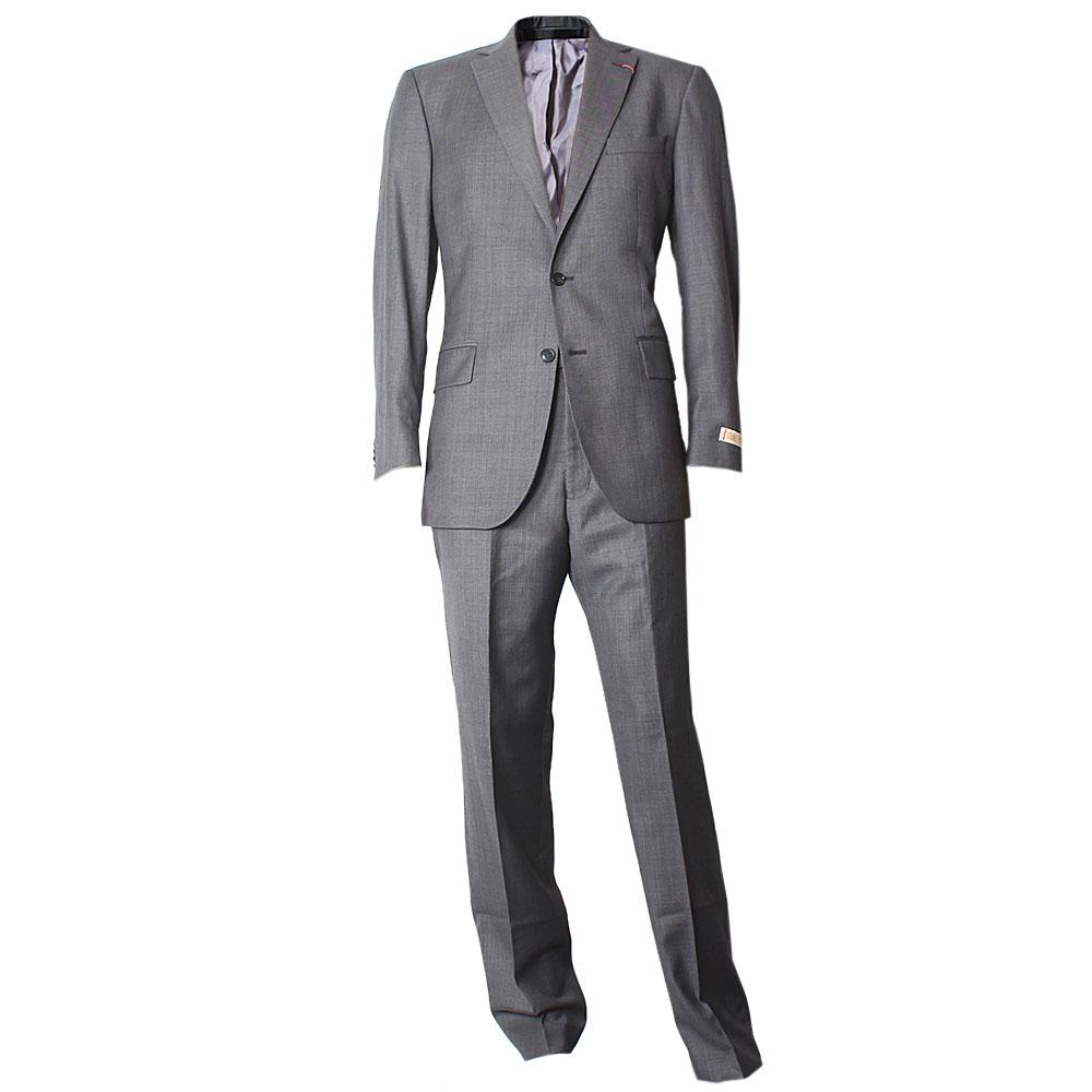 Grey Fine Wool Blend Regular Fit Men Suit W 36, Chest 40, Sz M