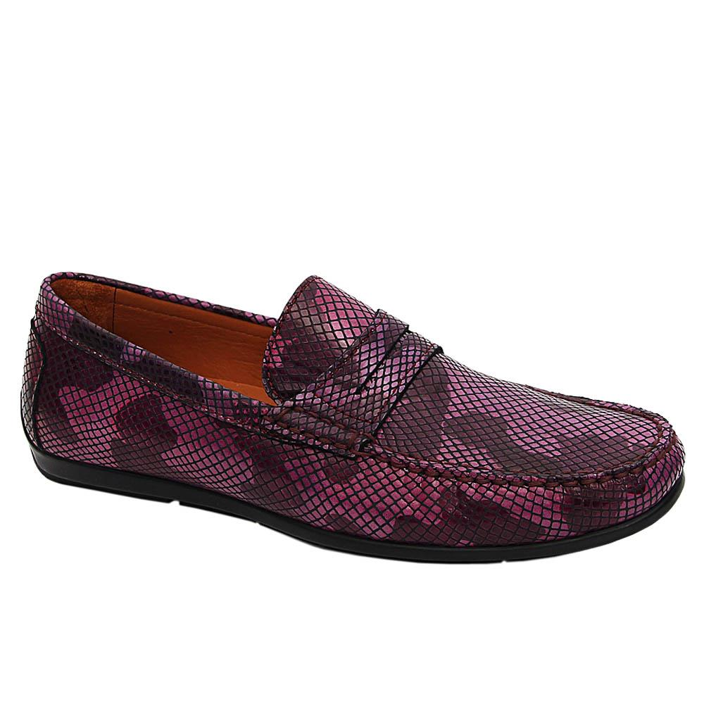 Purple Camo Oscar Italian Leather Drivers