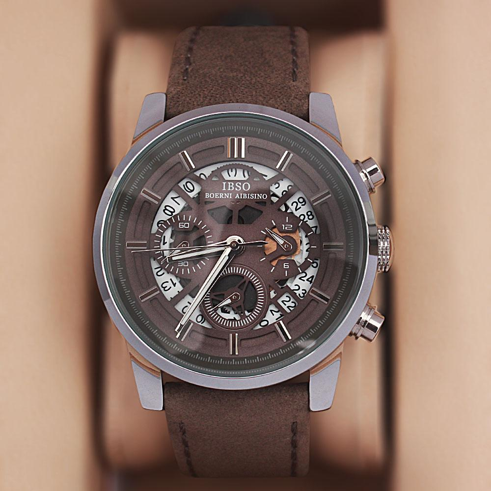 Generic Gray Leather Watch