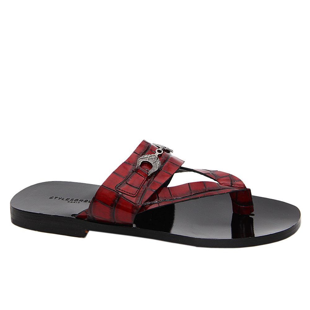 Wine Jean Italian Leather Slippers