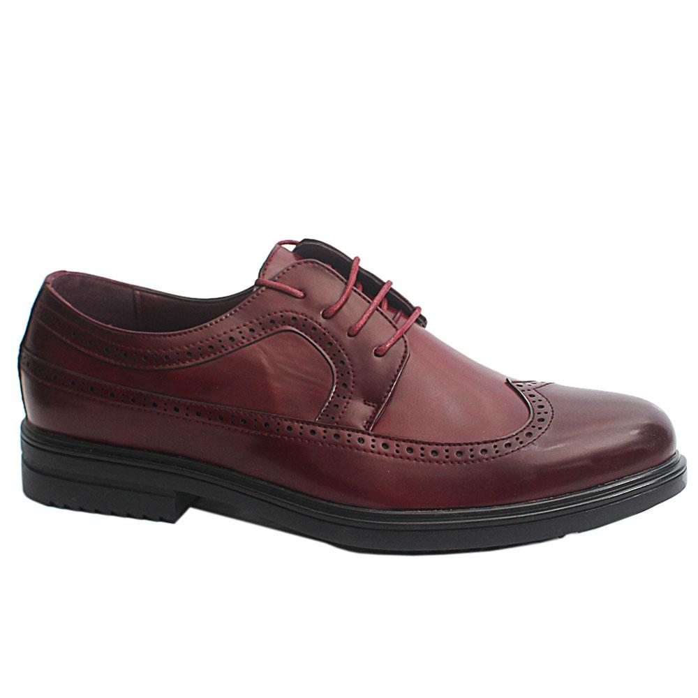 Wine Richard Patent Leather Men Derby Shoes