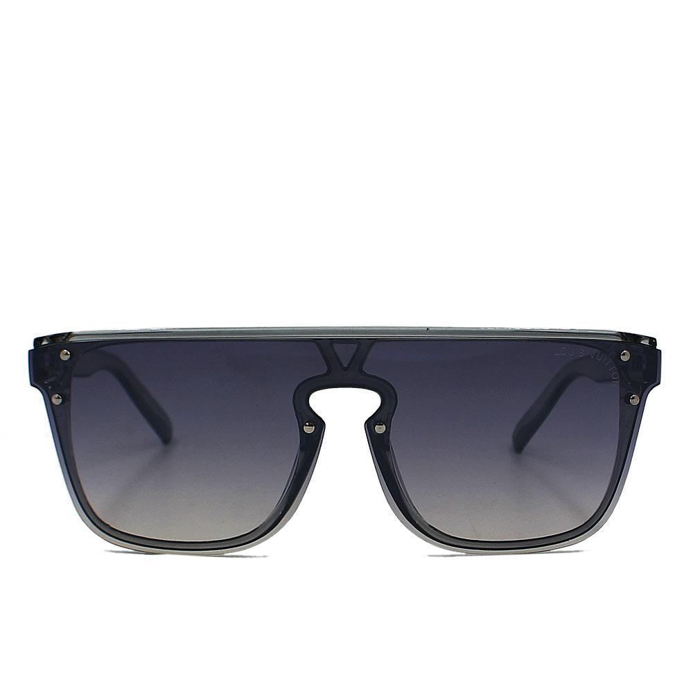 Gray Transparent WoRimless Wayfarer Sunglasses