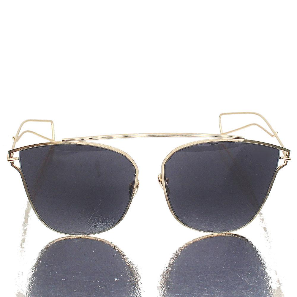 Gold Designer Dark Lens Sunglasses