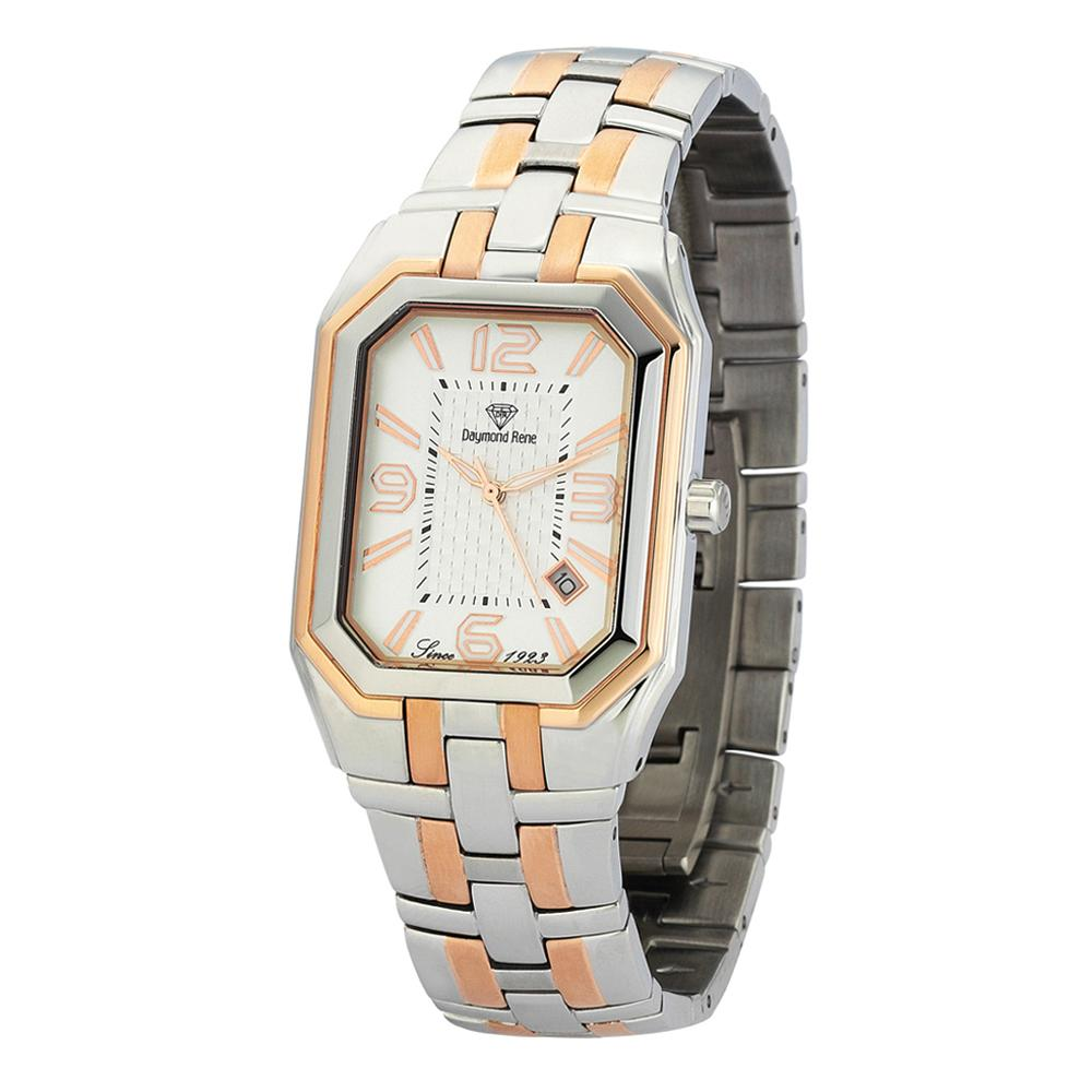 Silver Rose Gold Stainless Steel Classic Watch