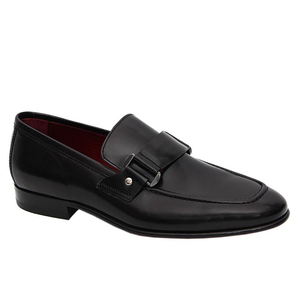 Black Nicolo Italian Leather Loafers