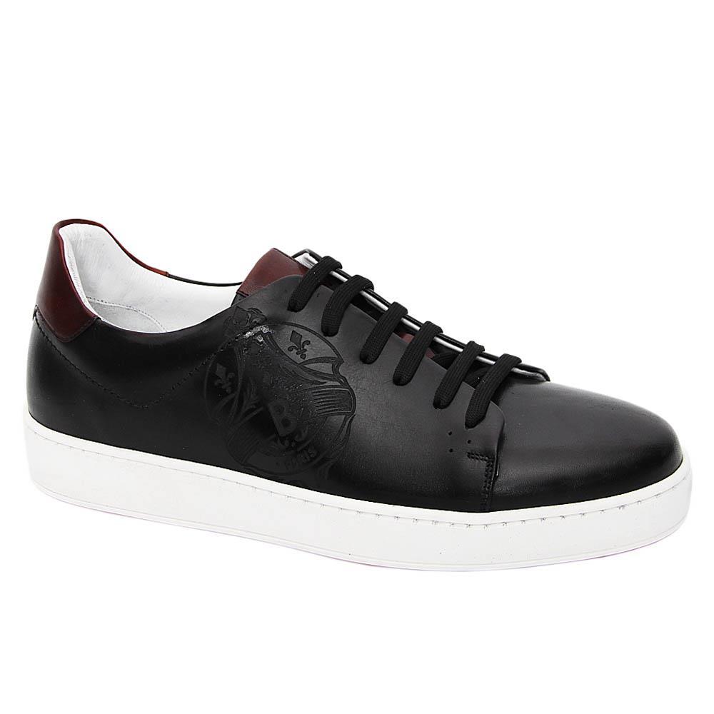 Black Amaru Shakur Italian Leather Sneakers