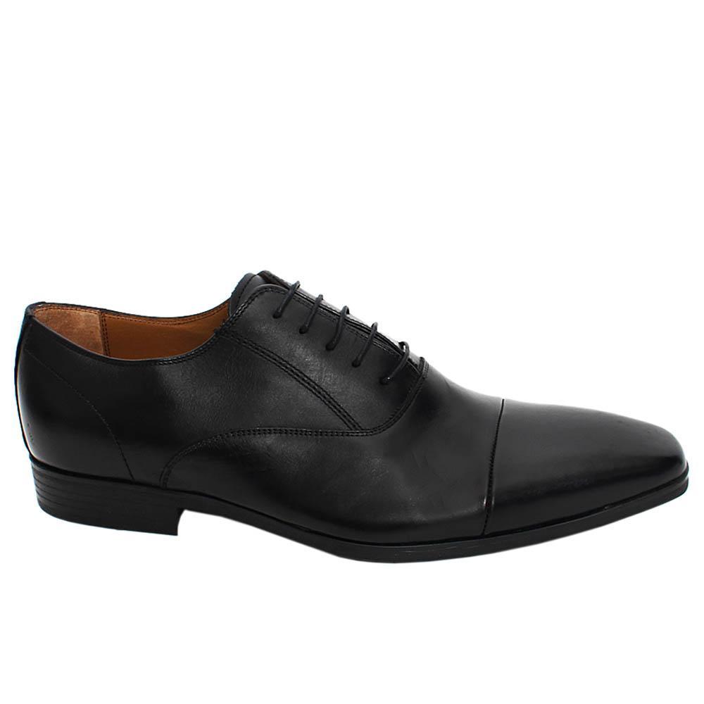 Black Marco Leather Men Oxford Shoe