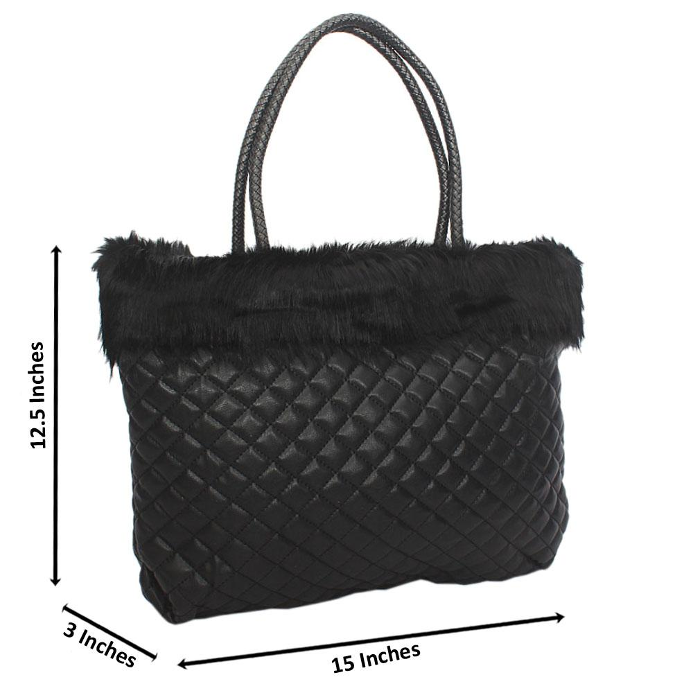 bec3e5394ebe Buy Black-Molly-Fury-Tuscany-Leather-Shoulder-Handbag - The Bag Shop ...