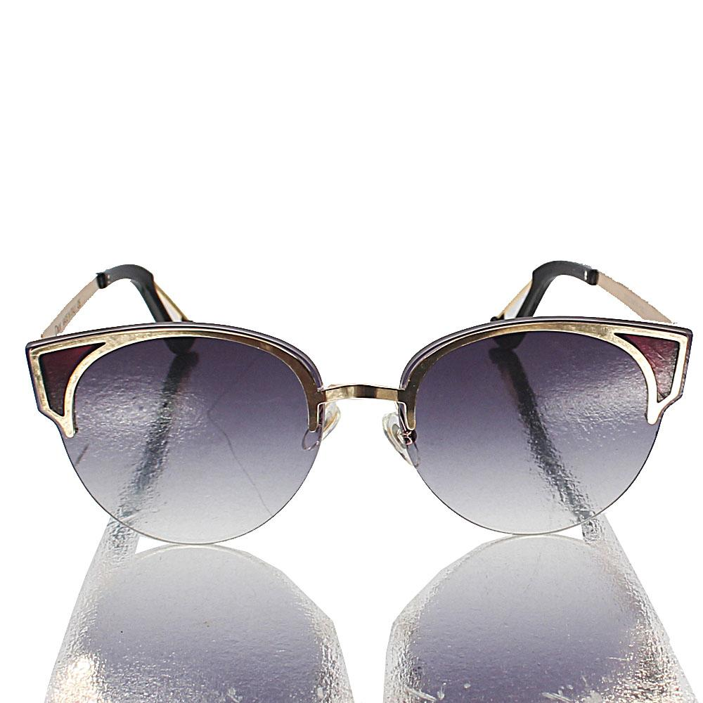 Gold Club Master Dark Lens Sunglasses