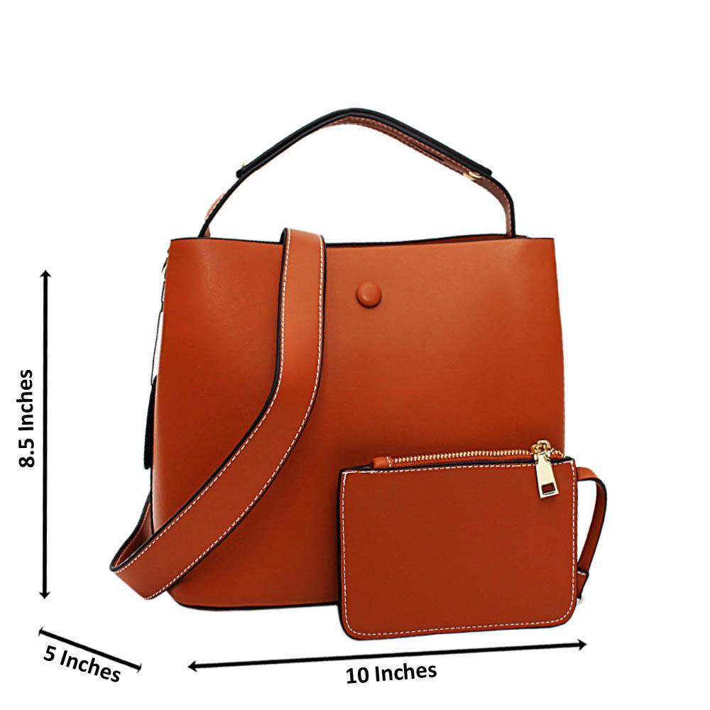 Brown Ulani Leather Medium Top Handle Handbag