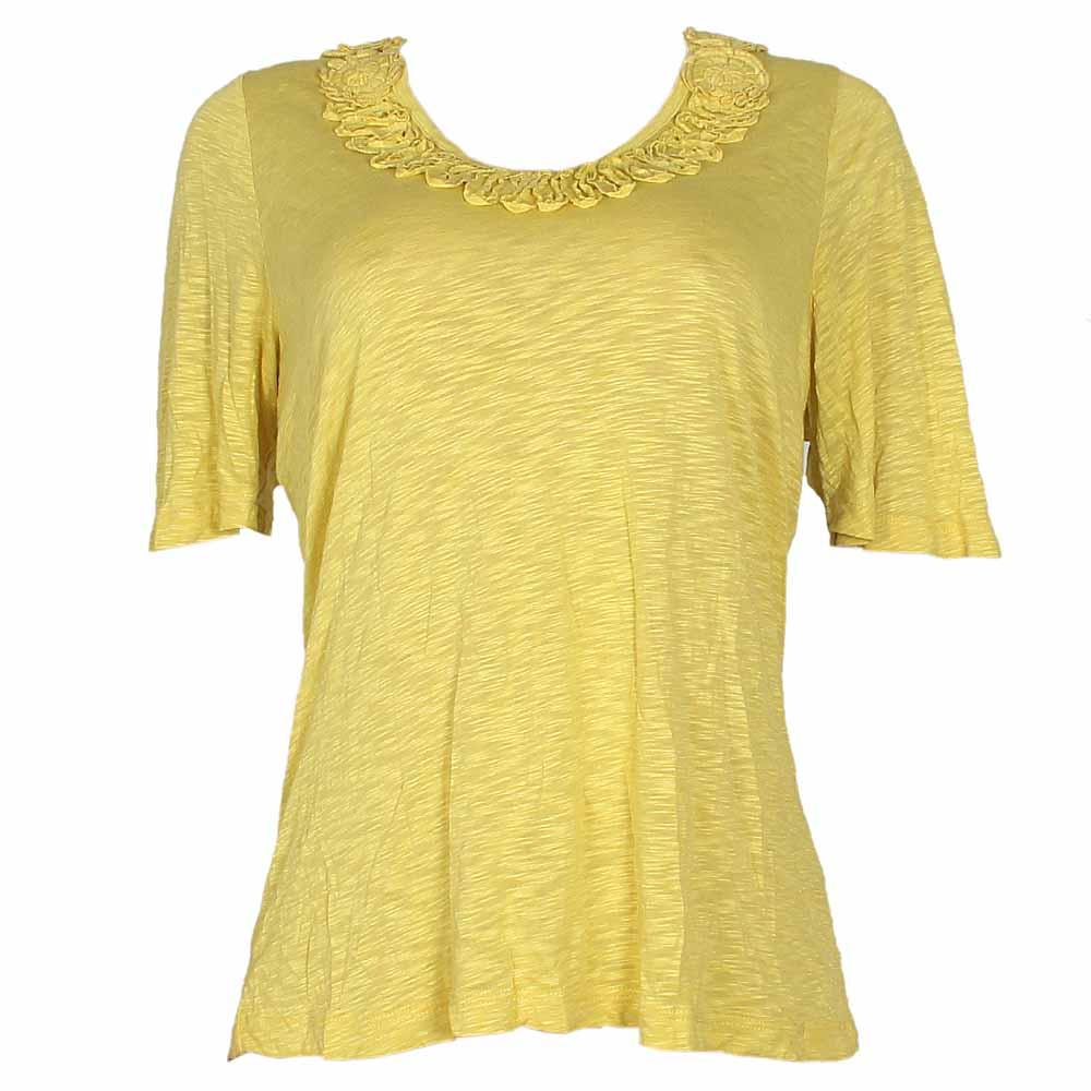 Yellow S-Sleeve Ladies Top-UK 10