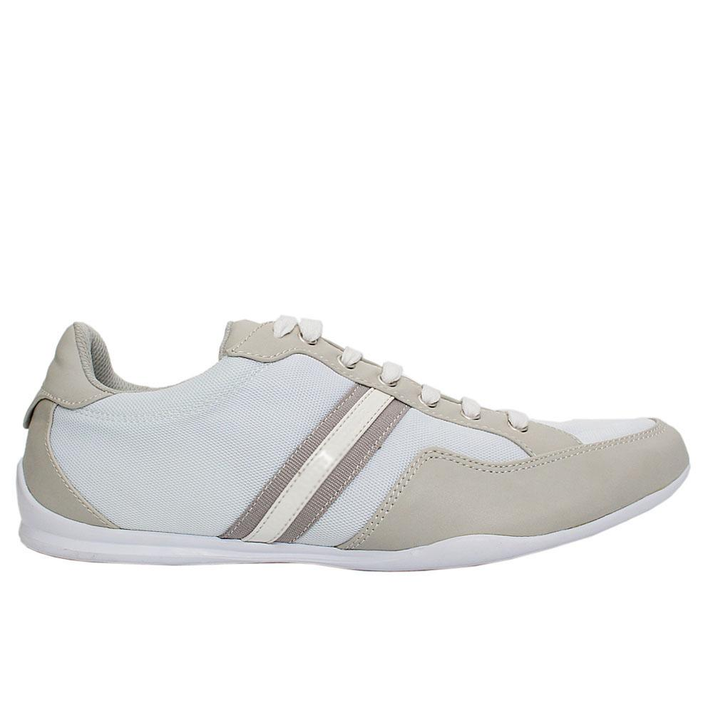 White Judd Fabric Leather Sneakers