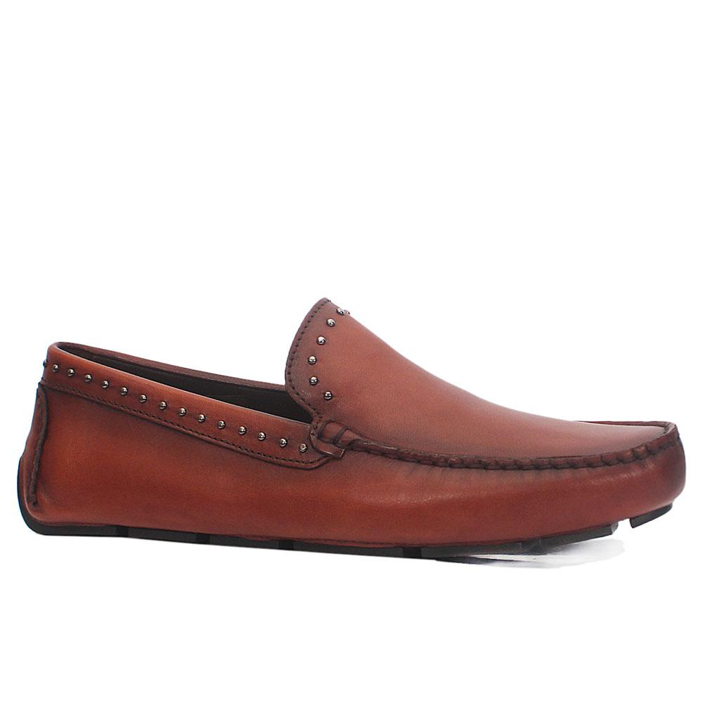 Brown Marcus Italian Leather Drivers Shoes