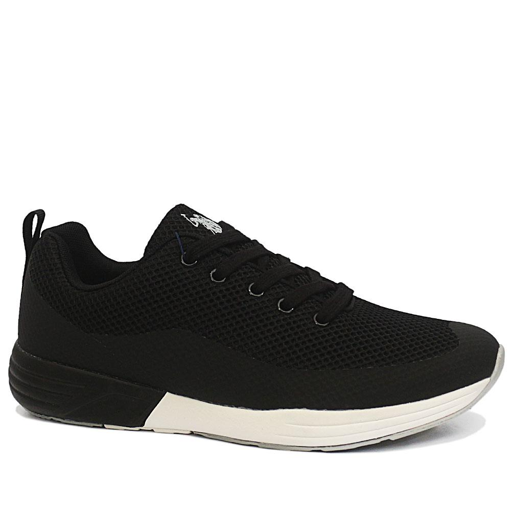 Sz 43 USSPA Black Lucas Breathable Sneakers