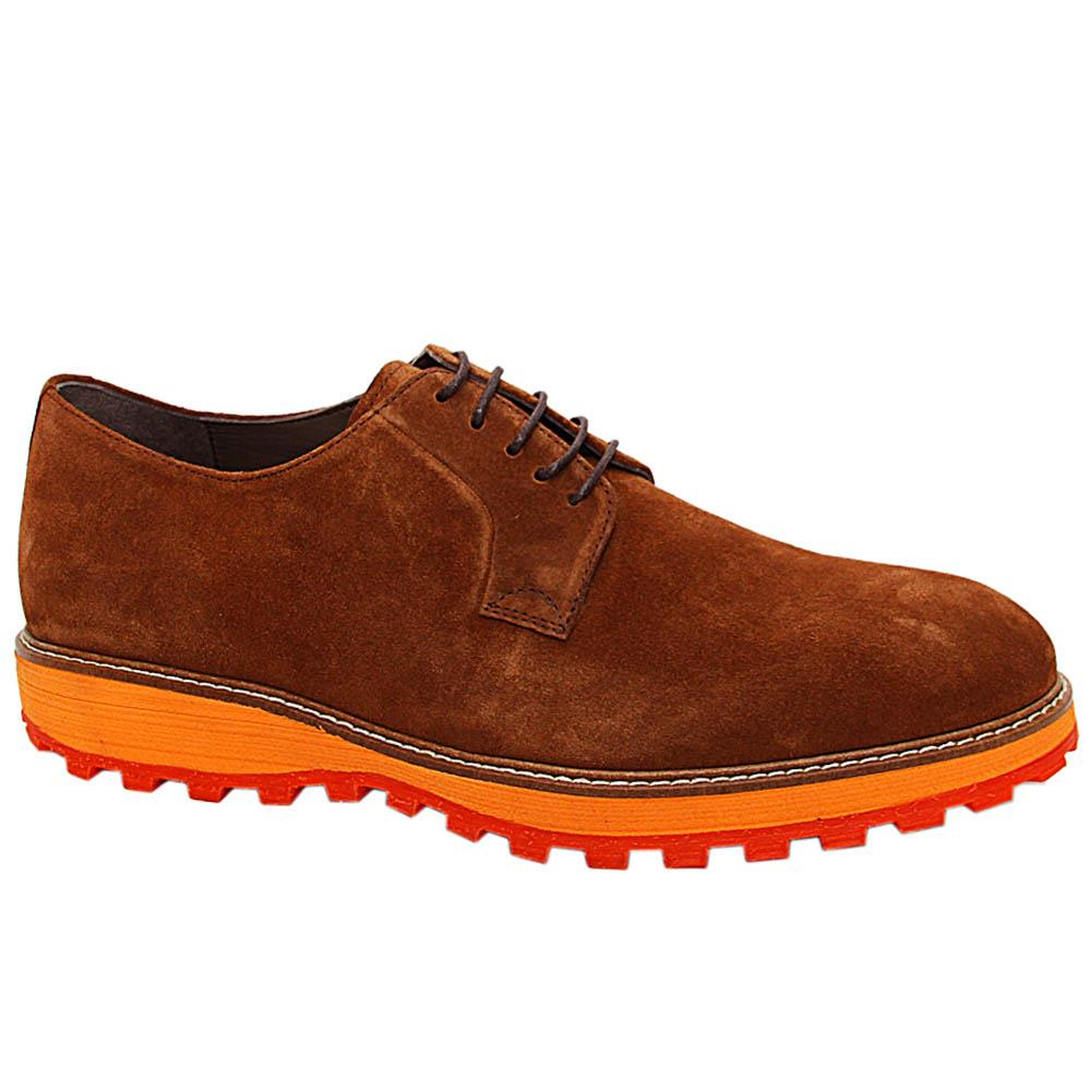 Brown Daniele Suede Suede Leather Derby Shoe