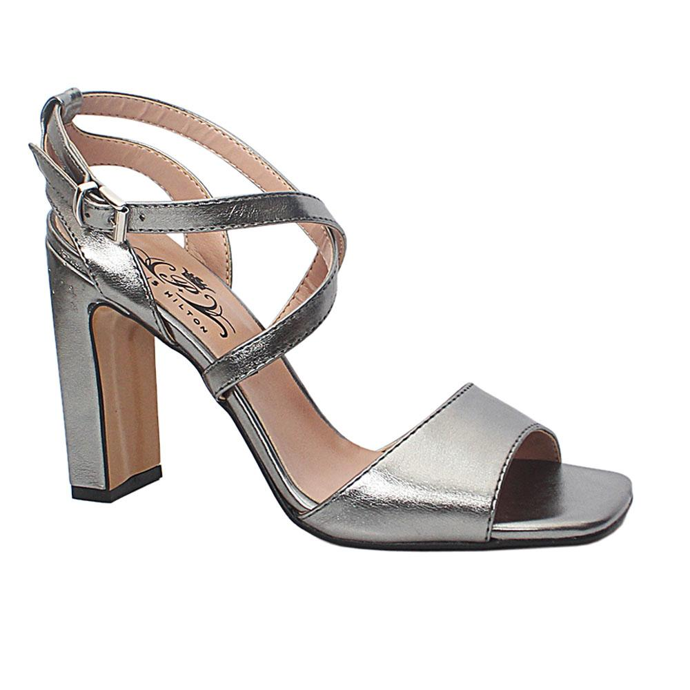 Gray Soraya Leather High Heel