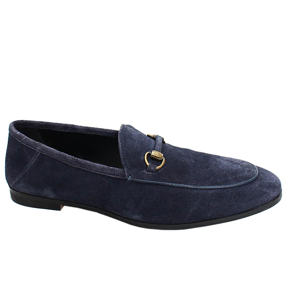 Navy Marcel Suede Leather Men Loafers