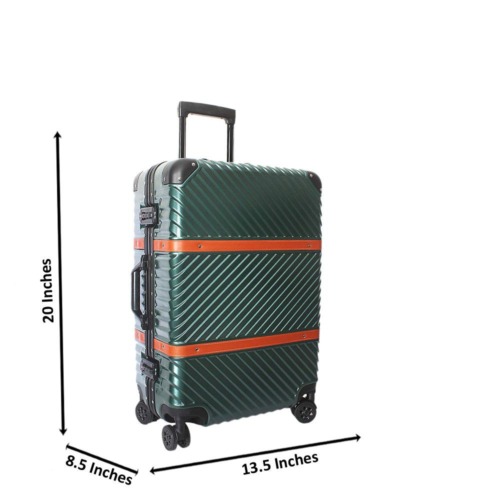 Green 20 Inch Hardshell 4 Wheels Spinners Carry On Luggage