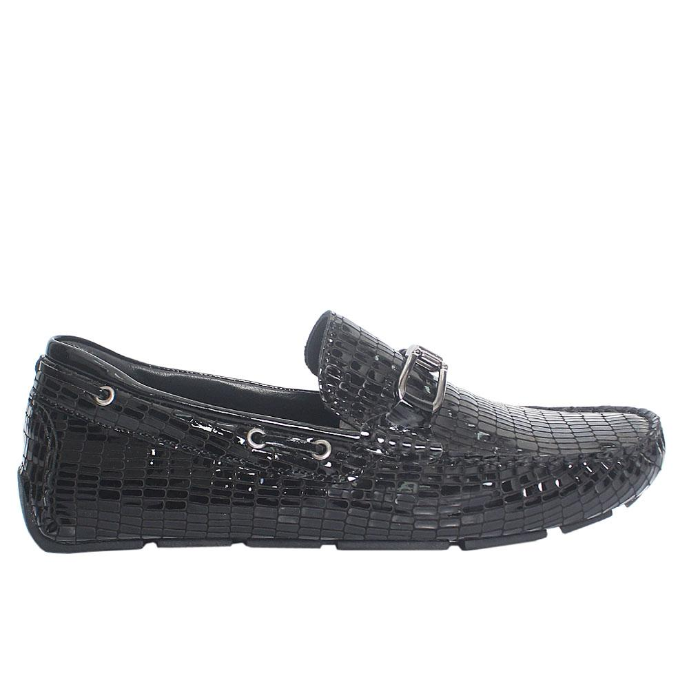Black Roy Alanya Italian Leather Loafers