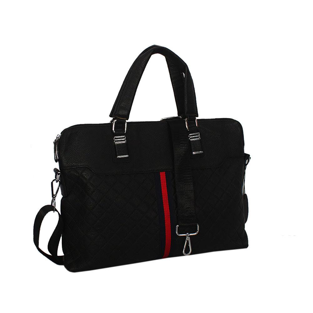 Black Hari Printed Design Tuscany Leather BusinesBag
