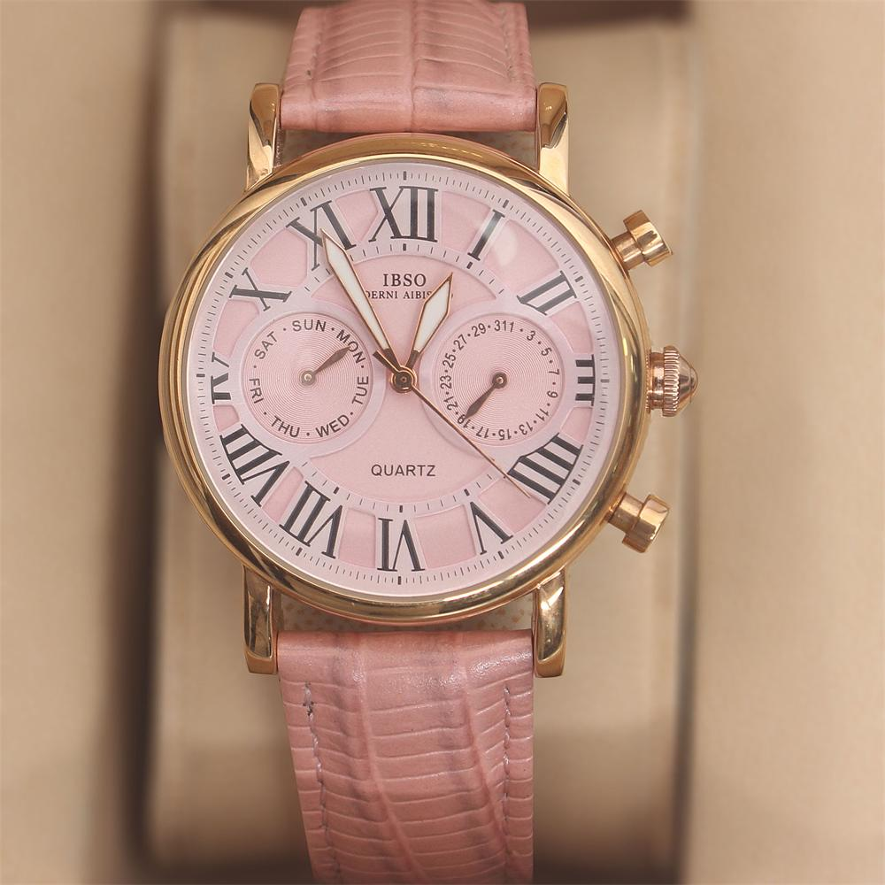 Martinez Barbie Pink Leather Classic Ladies Watch