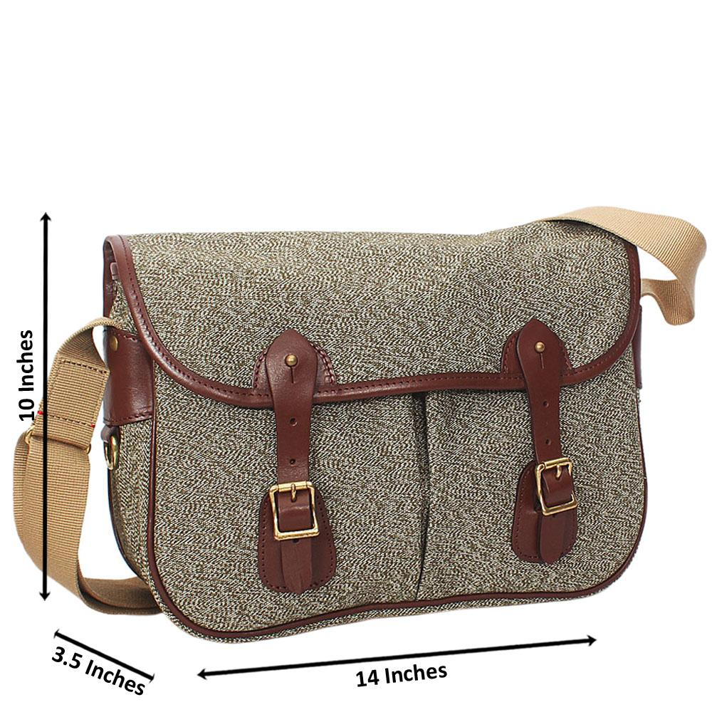 Green Mix Water Proof Khaki Small Messenger Bag