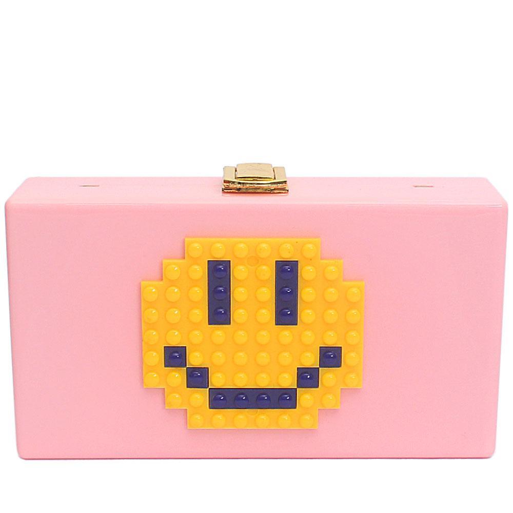 Pink Plastic Classic Hard Clutch